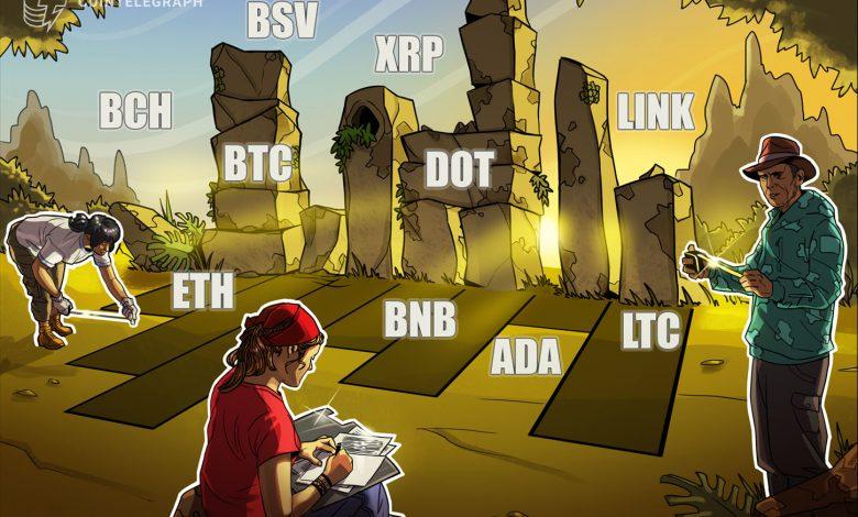 تحليل الأسعار 1/4: BTC، ETH، XRP، LTC، DOT، BCH، ADA، BNB، LINK، BSV